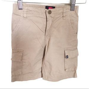 QUICKSILVER Cargo Shorts Tan/Stone Size 4-5Y